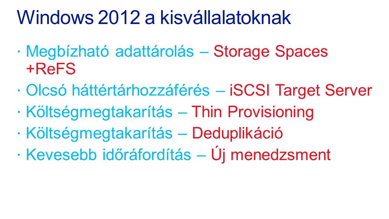 Windows 2012 a kisvállalatoknak