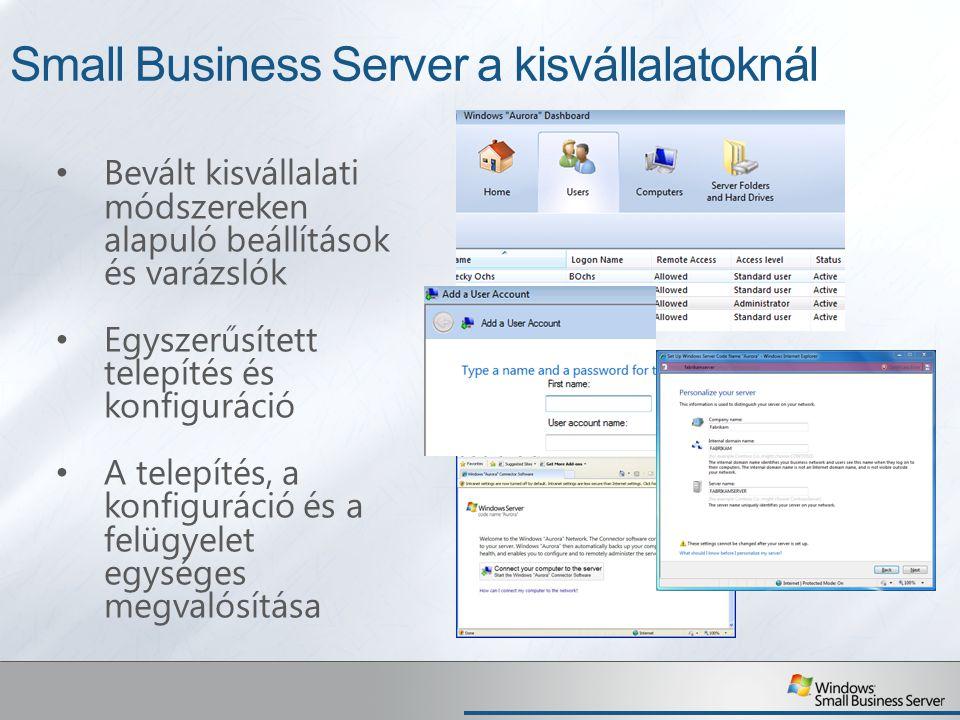 Small Business Server a kisvállalatoknál