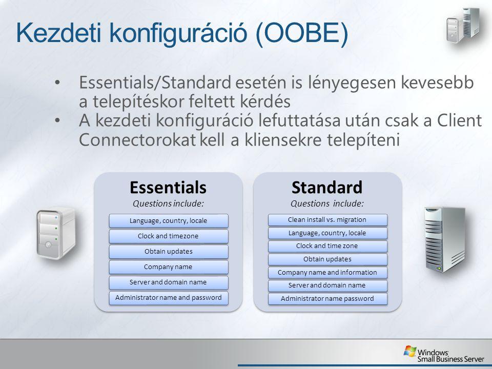 Kezdeti konfiguráció (OOBE)