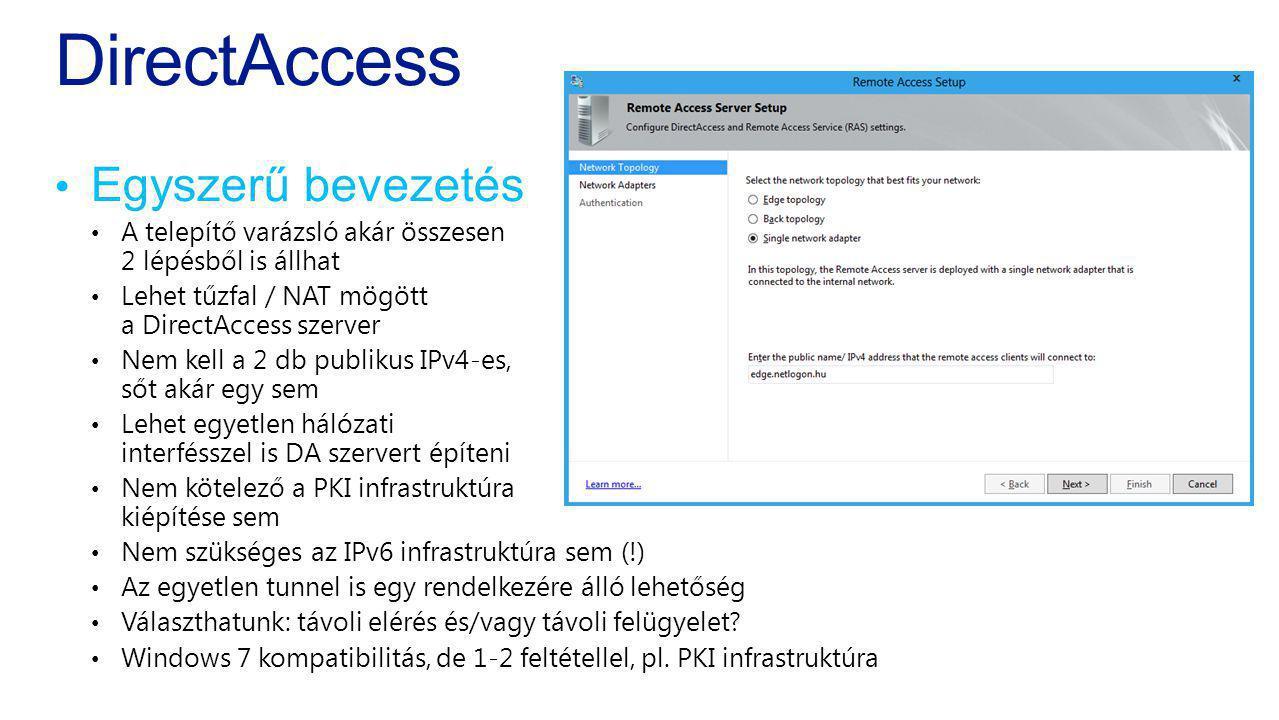 DirectAccess Egyszerű bevezetés