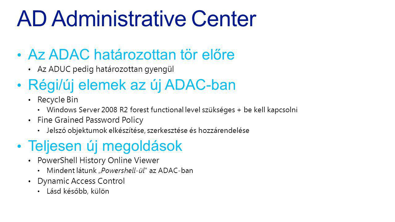 AD Administrative Center