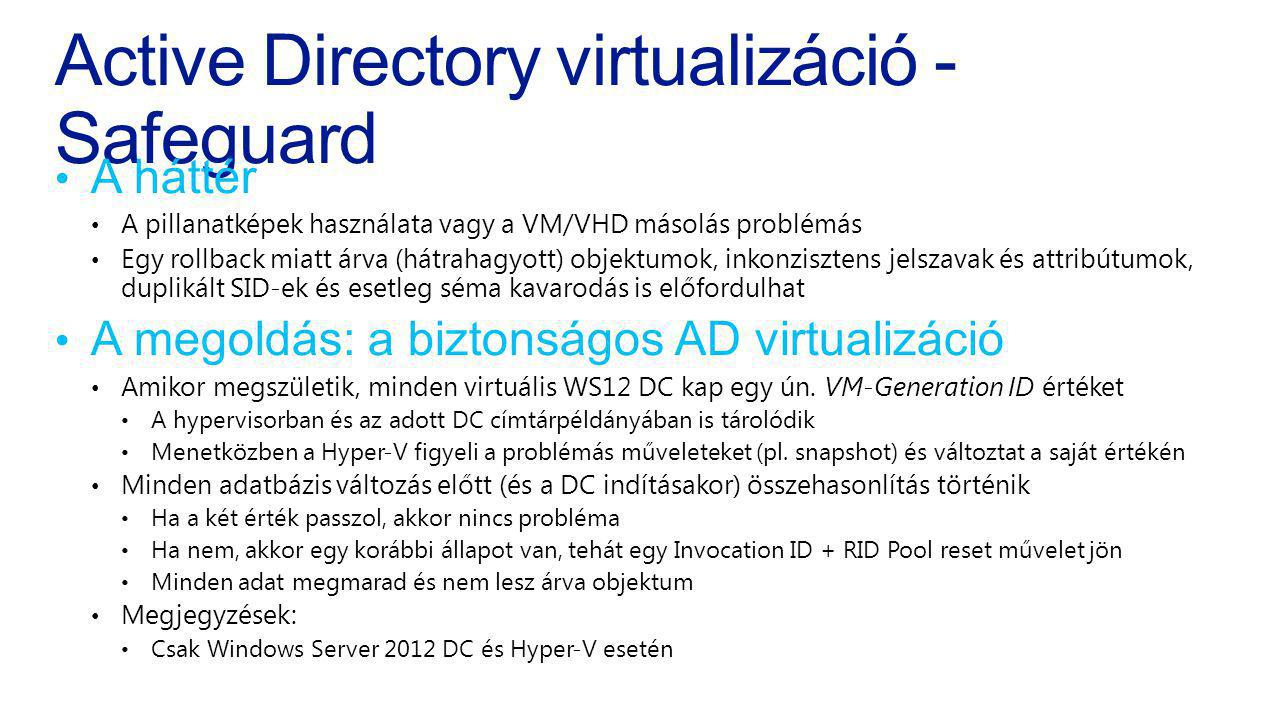 Active Directory virtualizáció - Safeguard