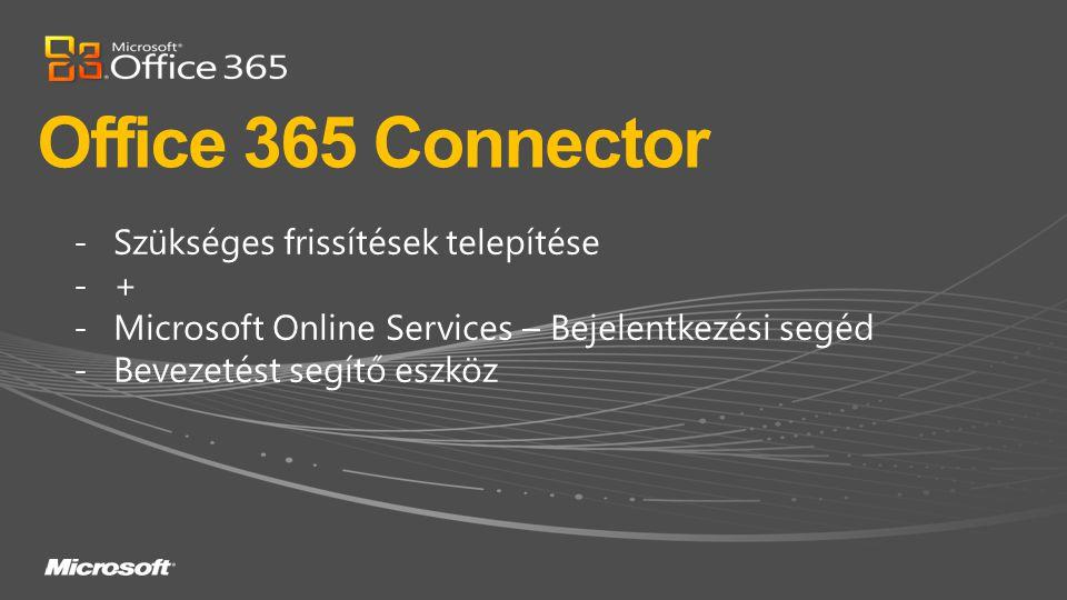 Office 365 Connector Szükséges frissítések telepítése +