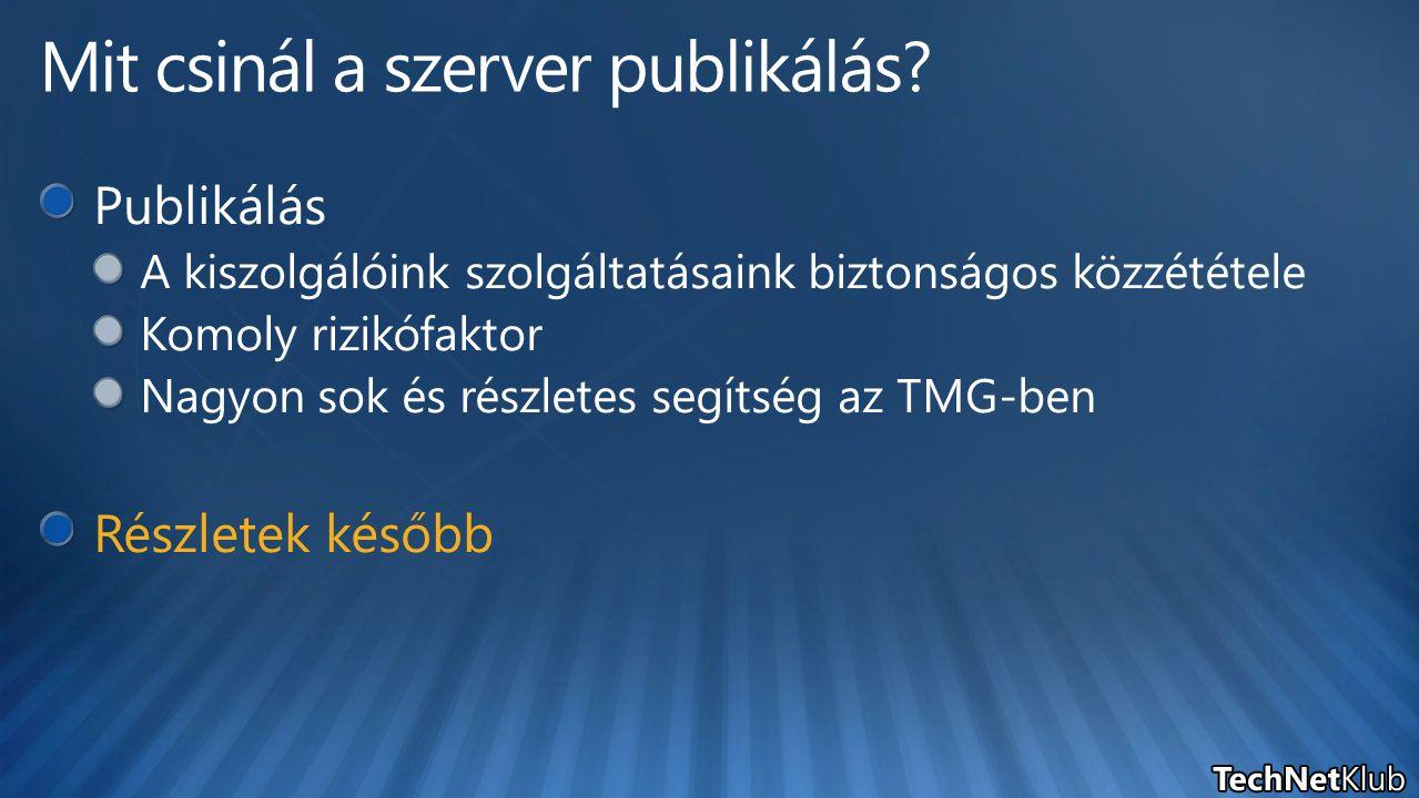Mit csinál a szerver publikálás