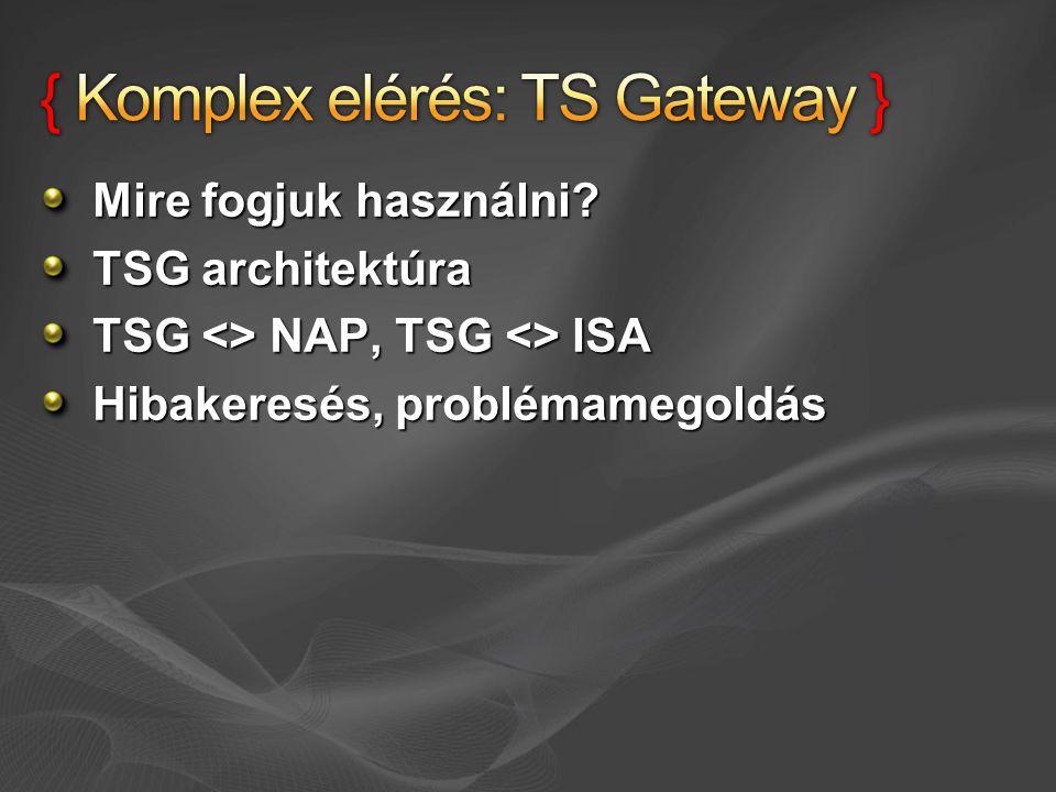 { Komplex elérés: TS Gateway }