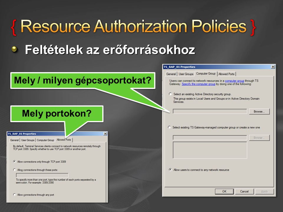 { Resource Authorization Policies }