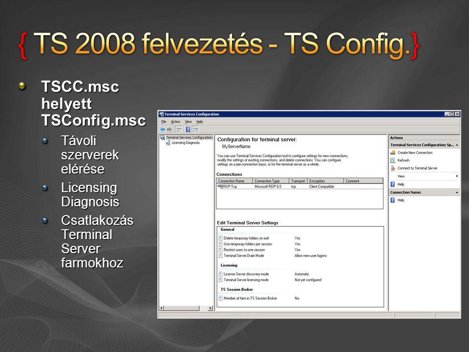 { TS 2008 felvezetés - TS Config.}