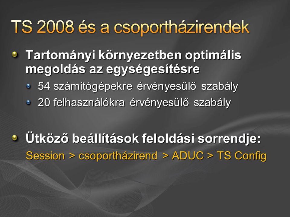 TS 2008 és a csoportházirendek