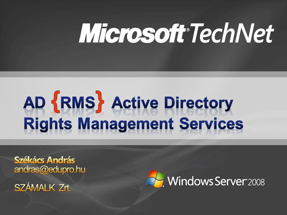 AD {RMS} Active Directory Rights Management Services