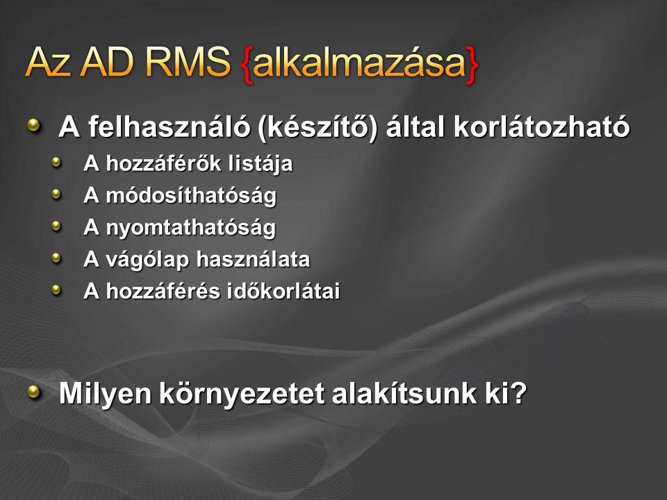 Az AD RMS {alkalmazása}