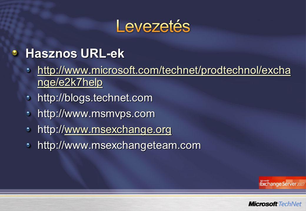 Levezetés Hasznos URL-ek