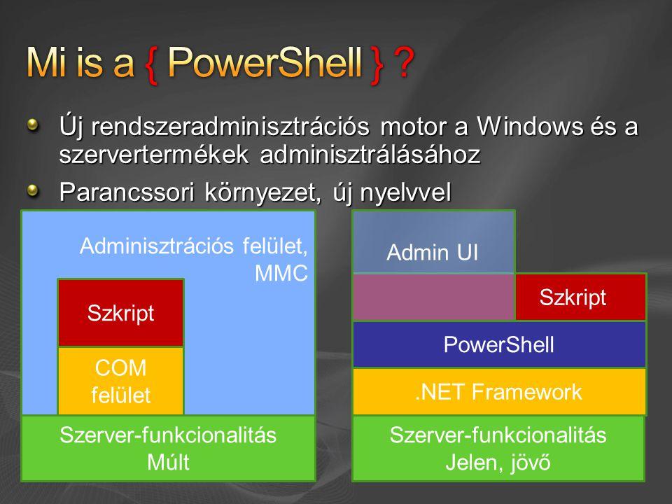 Mi is a { PowerShell } Új rendszeradminisztrációs motor a Windows és a szervertermékek adminisztrálásához.