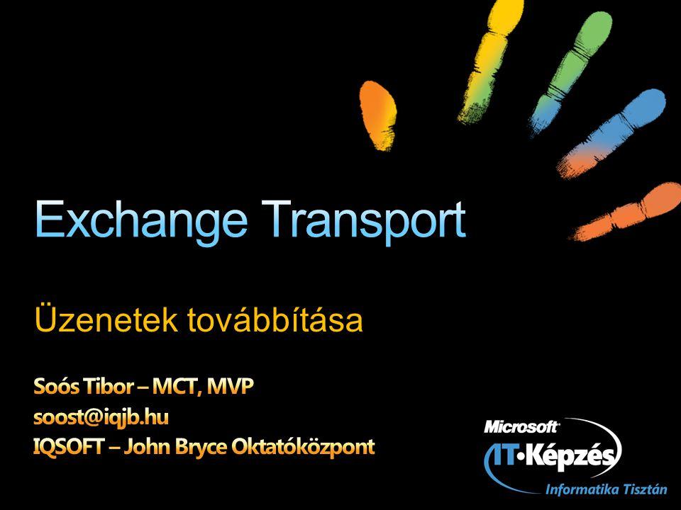 Exchange Transport Üzenetek továbbítása Soós Tibor – MCT, MVP