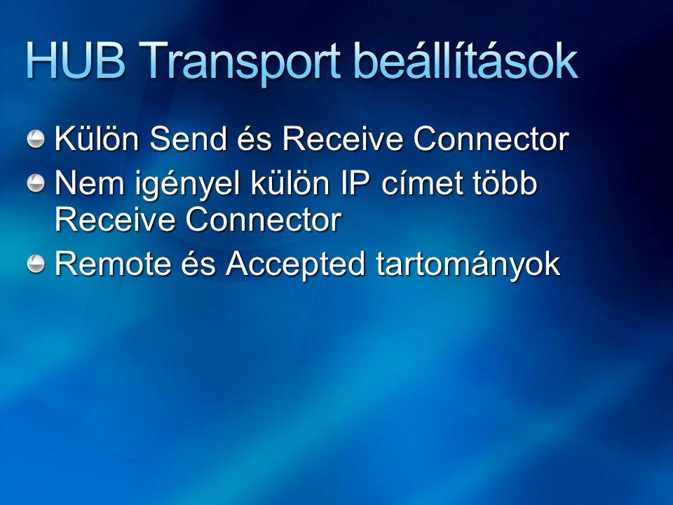HUB Transport beállítások