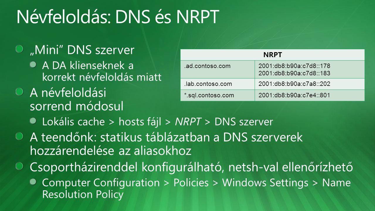 Névfeloldás: DNS és NRPT