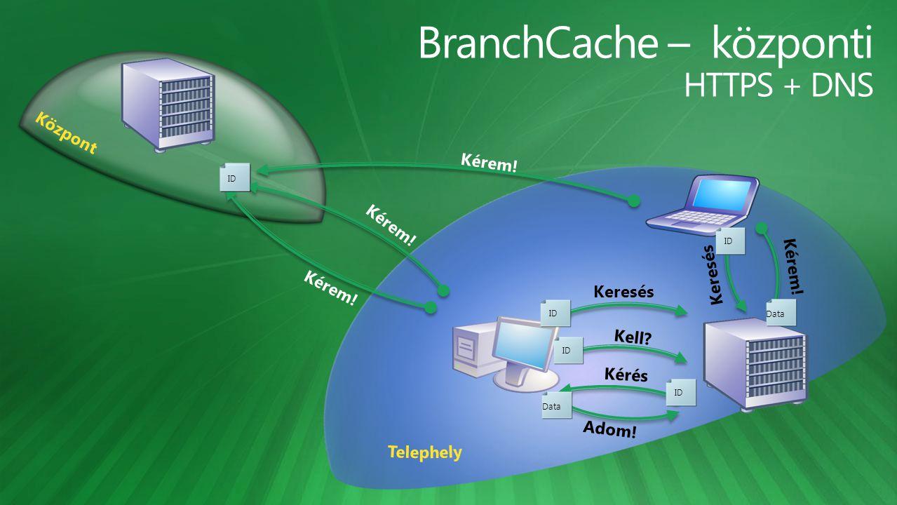 BranchCache – központi HTTPS + DNS