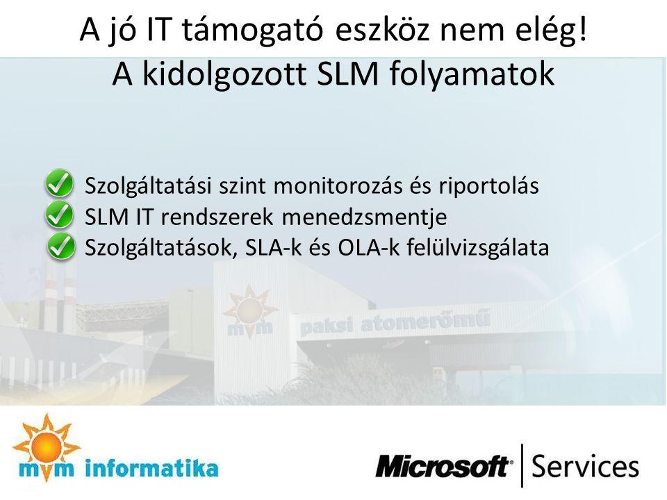 A jó IT támogató eszköz nem elég! A kidolgozott SLM folyamatok