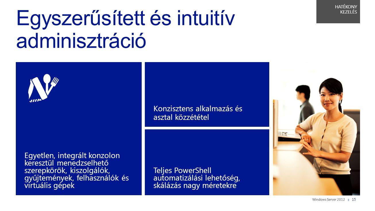 Egyszerűsített és intuitív adminisztráció