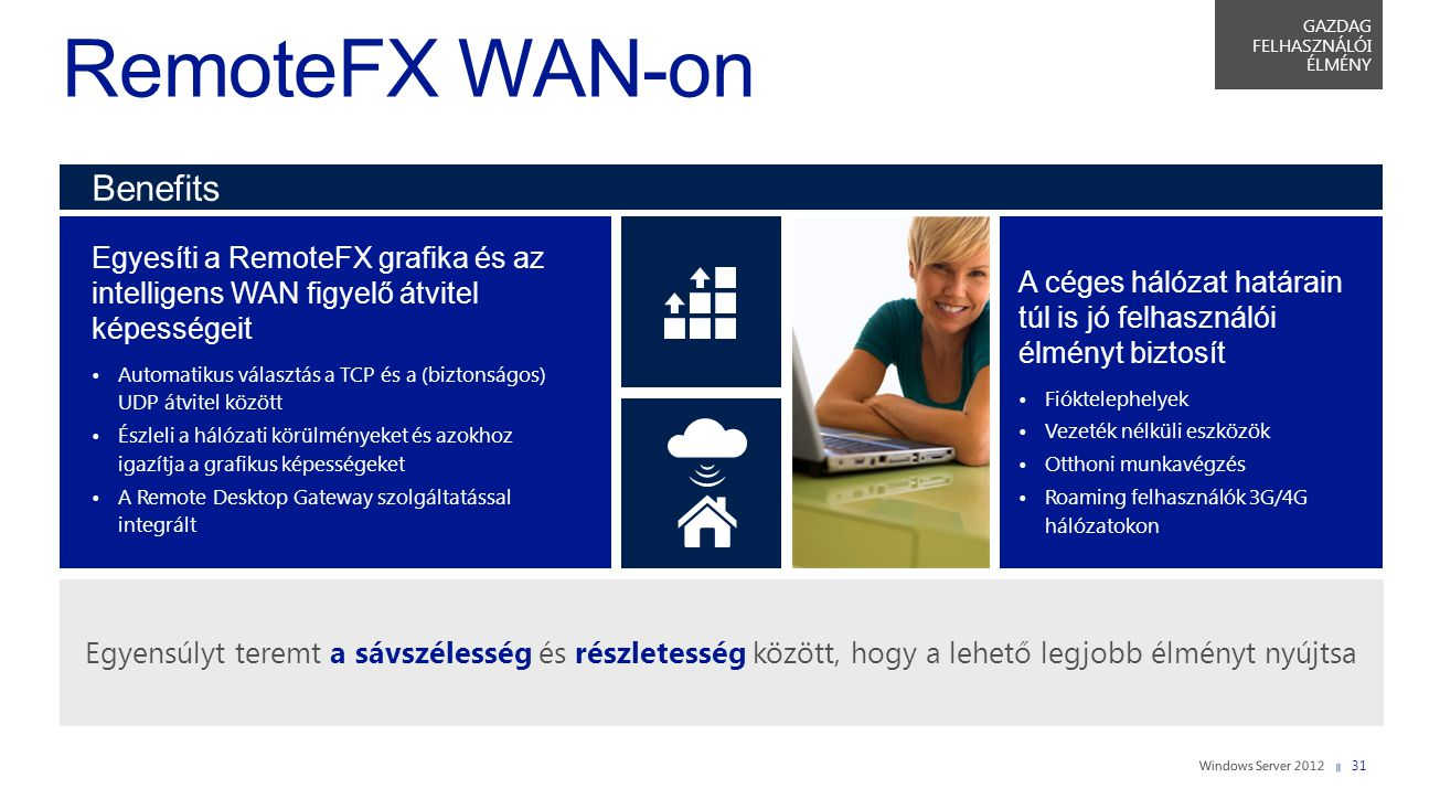 RemoteFX WAN-on Benefits