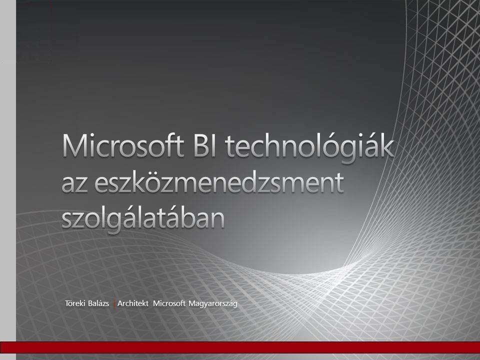 Microsoft BI technológiák az eszközmenedzsment szolgálatában