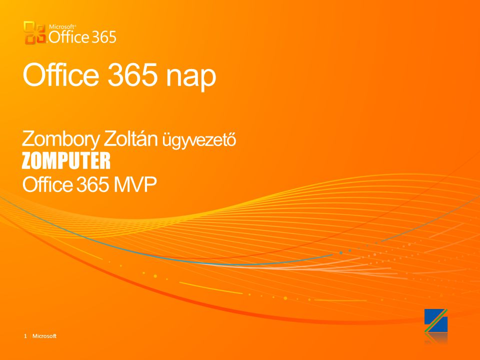 Office 365 nap Zombory Zoltán ügyvezető ZOMPUTER Office 365 MVP