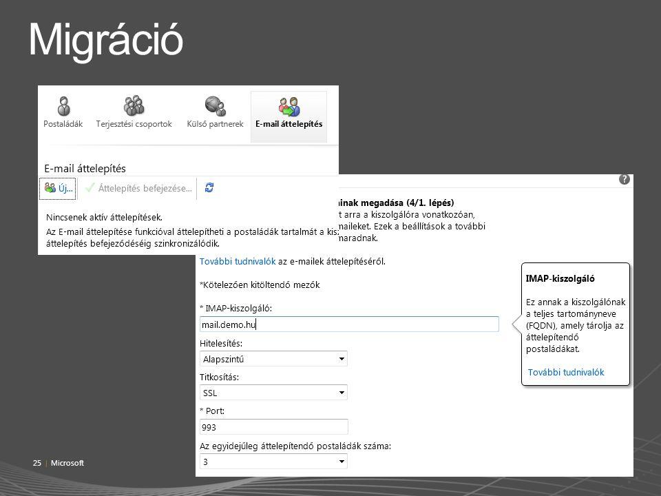 Migráció 25 | Microsoft