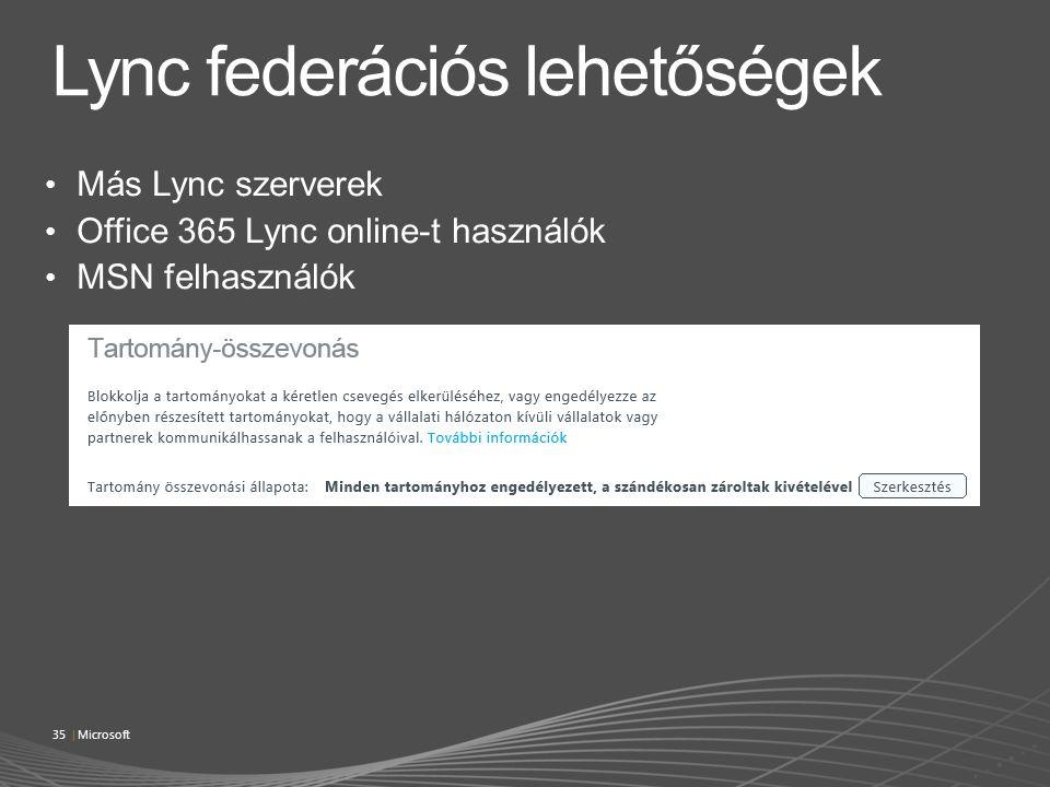 Lync federációs lehetőségek