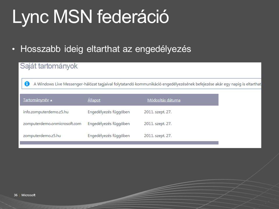 Lync MSN federáció Hosszabb ideig eltarthat az engedélyezés