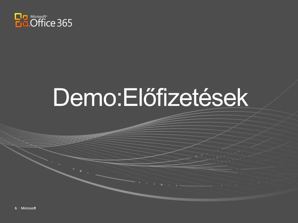 Demo:Előfizetések 4/4/2017 7:09 PM 6 | Microsoft