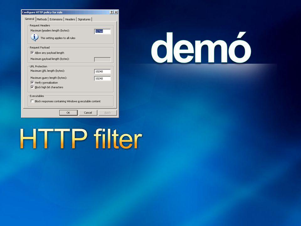 HTTP filter