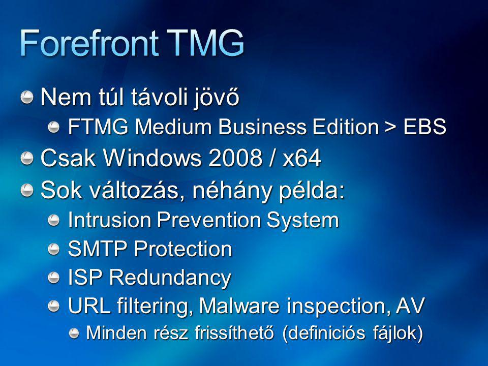 Forefront TMG Nem túl távoli jövő Csak Windows 2008 / x64