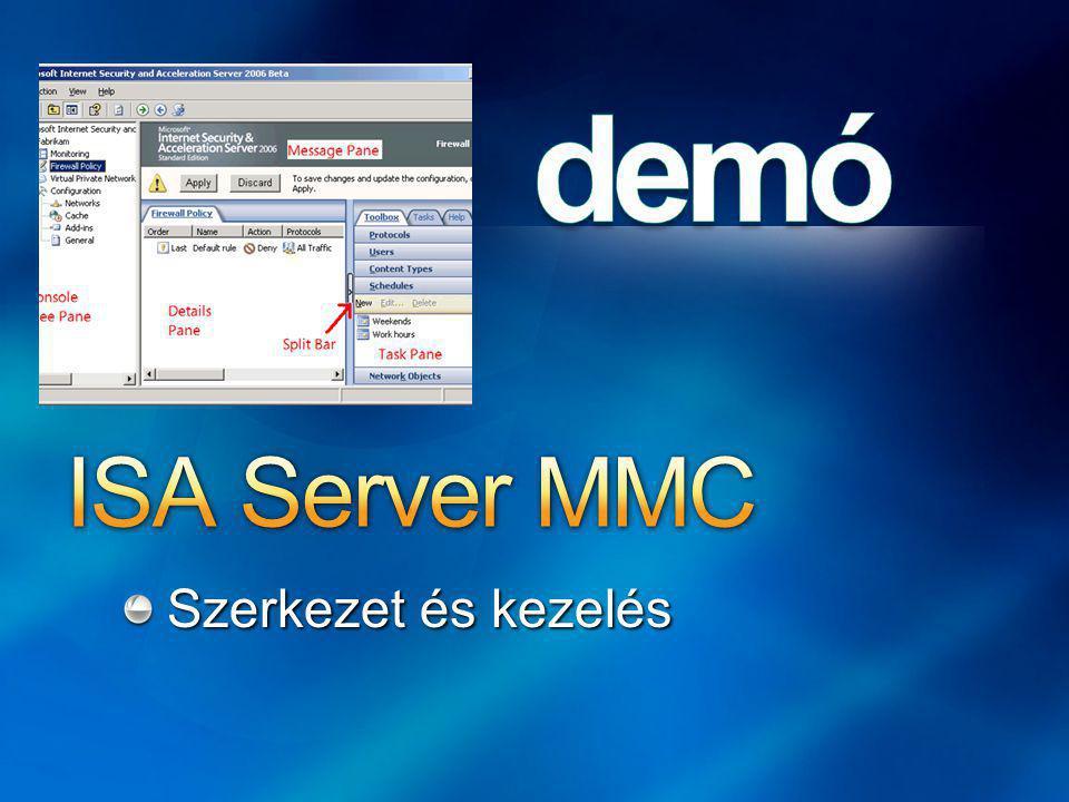 ISA Server MMC Szerkezet és kezelés