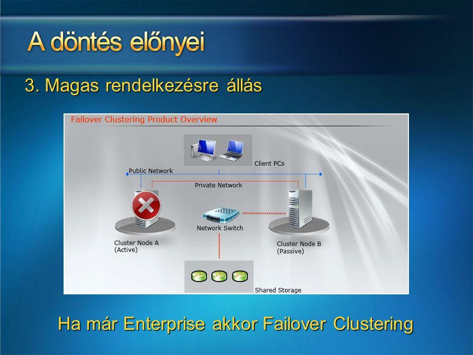 Ha már Enterprise akkor Failover Clustering