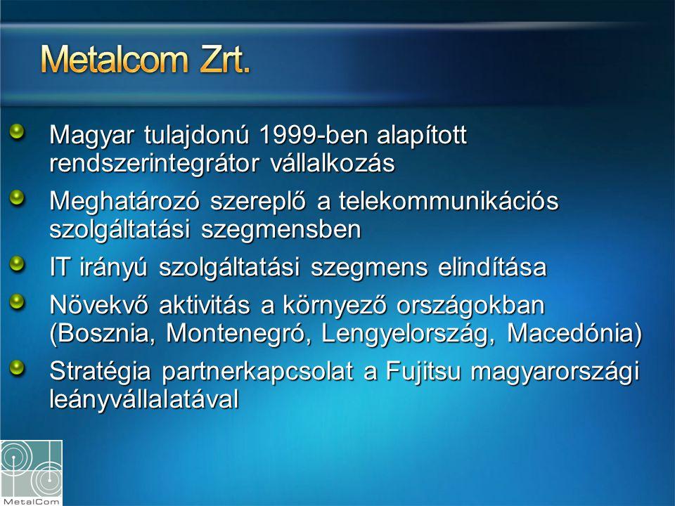 Metalcom Zrt. Magyar tulajdonú 1999-ben alapított rendszerintegrátor vállalkozás. Meghatározó szereplő a telekommunikációs szolgáltatási szegmensben.