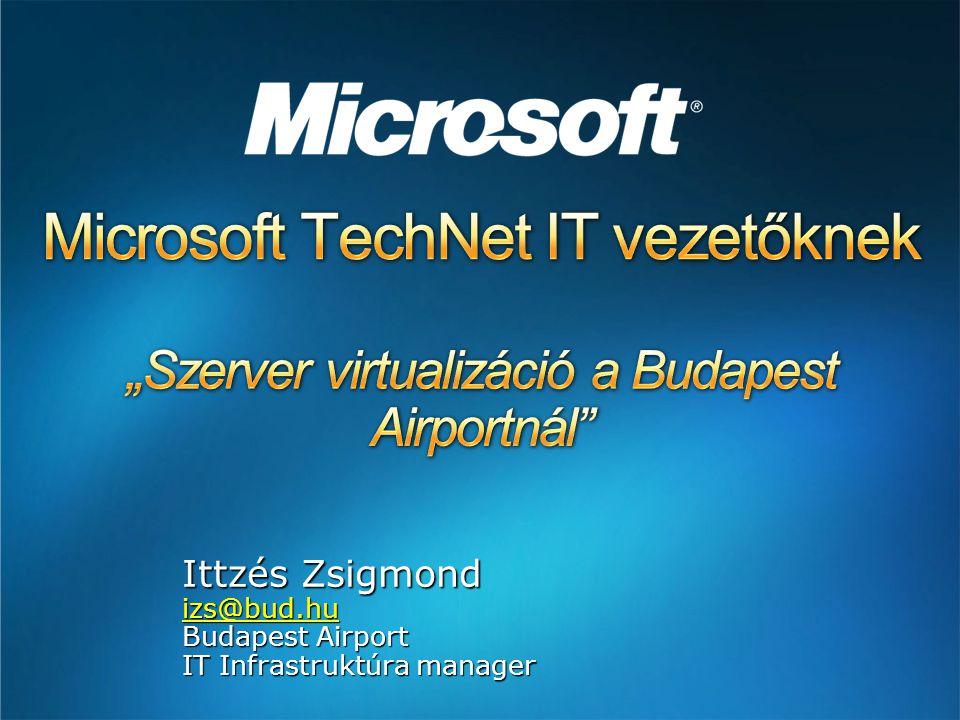 Ittzés Zsigmond izs@bud.hu Budapest Airport IT Infrastruktúra manager