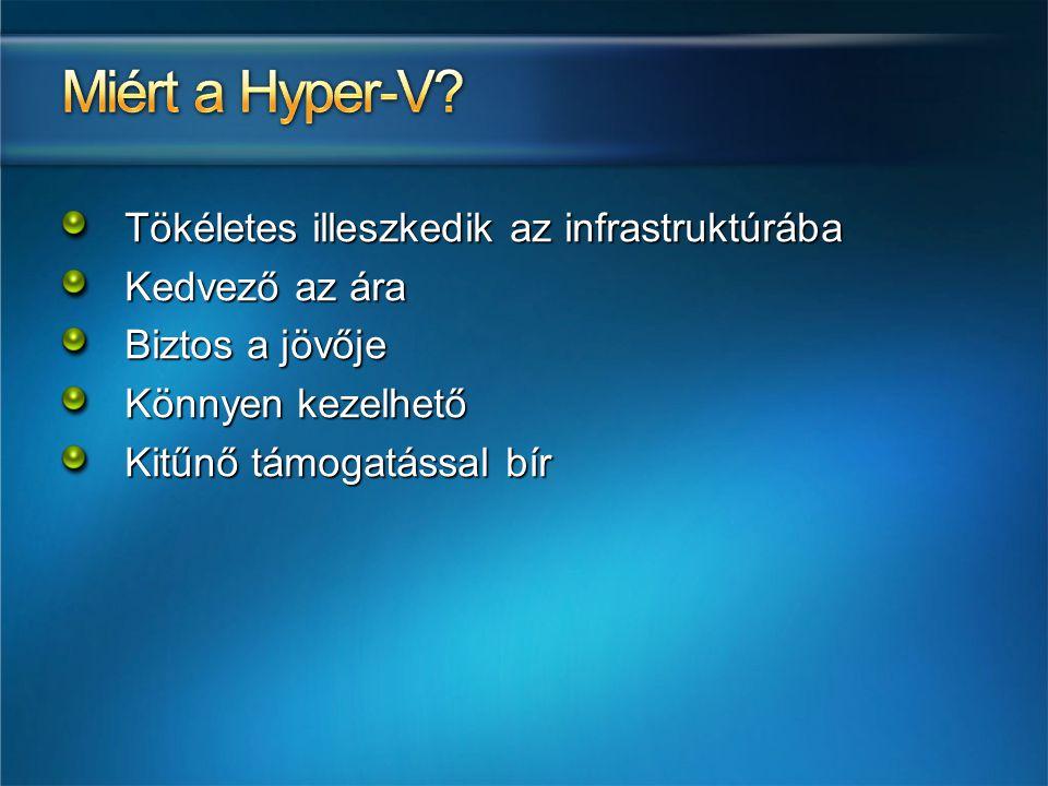 Miért a Hyper-V Tökéletes illeszkedik az infrastruktúrába