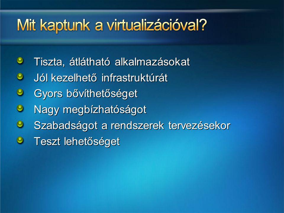 Mit kaptunk a virtualizációval