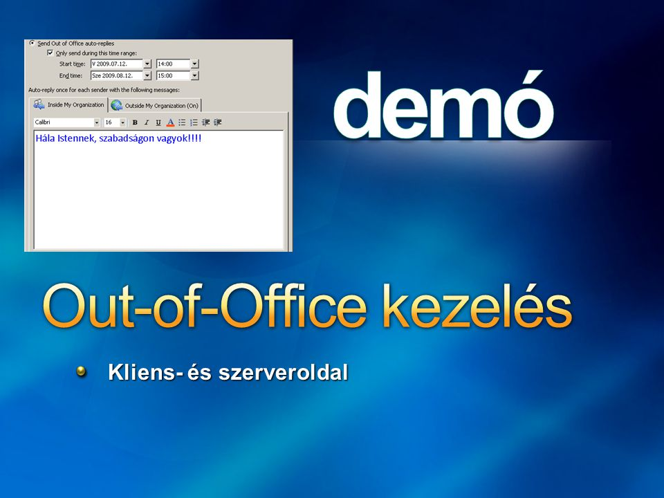 Out-of-Office kezelés