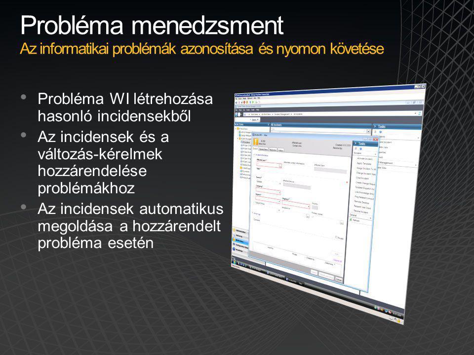 Probléma menedzsment Az informatikai problémák azonosítása és nyomon követése