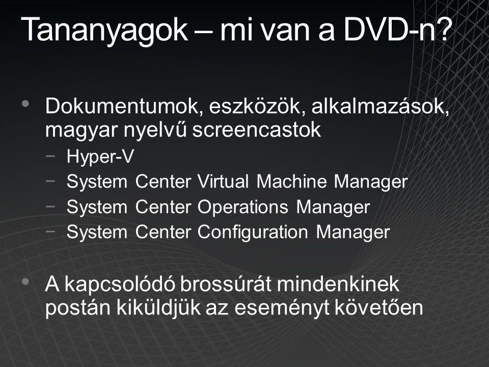 Tananyagok – mi van a DVD-n