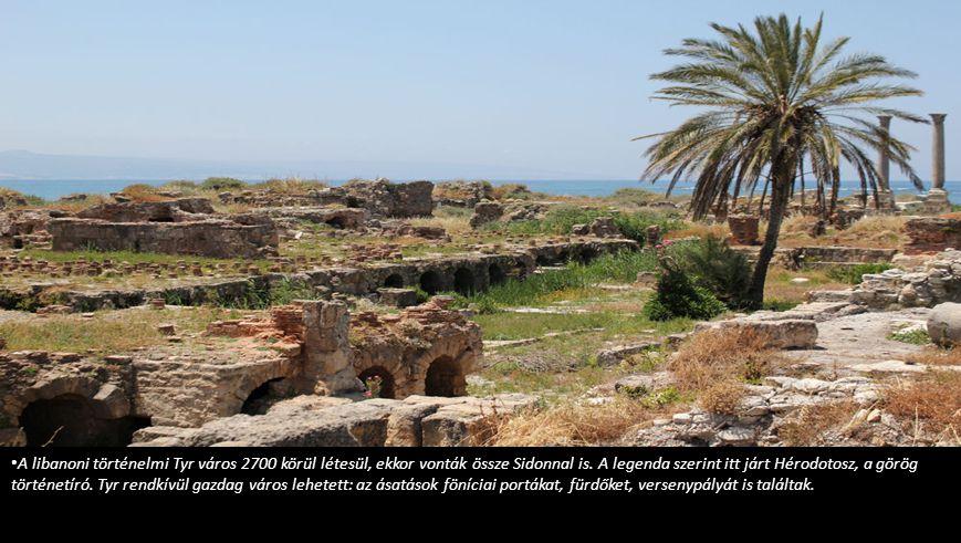 A libanoni történelmi Tyr város 2700 körül létesül, ekkor vonták össze Sidonnal is.