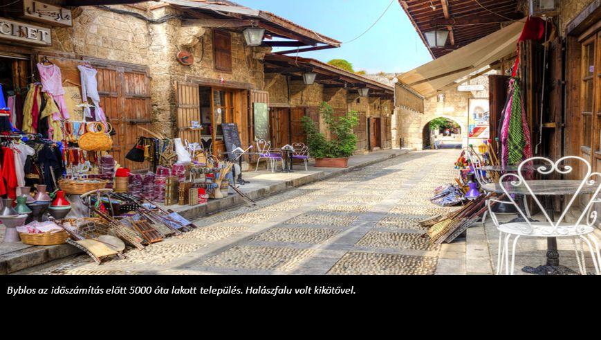 Byblos az időszámítás előtt 5000 óta lakott település
