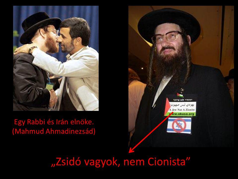 """""""Zsidó vagyok, nem Cionista"""