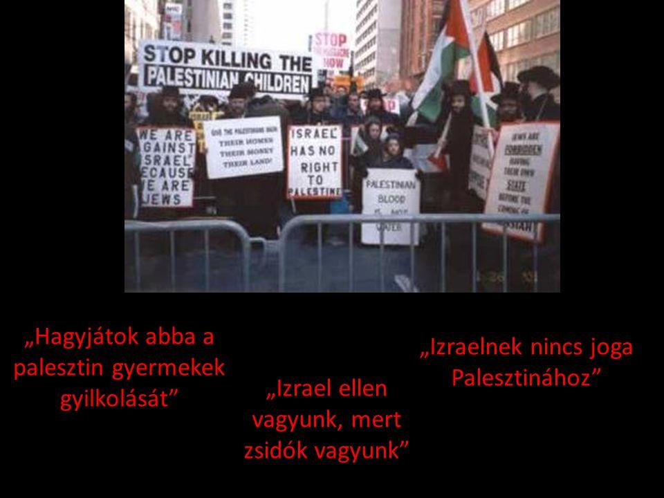"""""""Hagyjátok abba a palesztin gyermekek gyilkolását"""