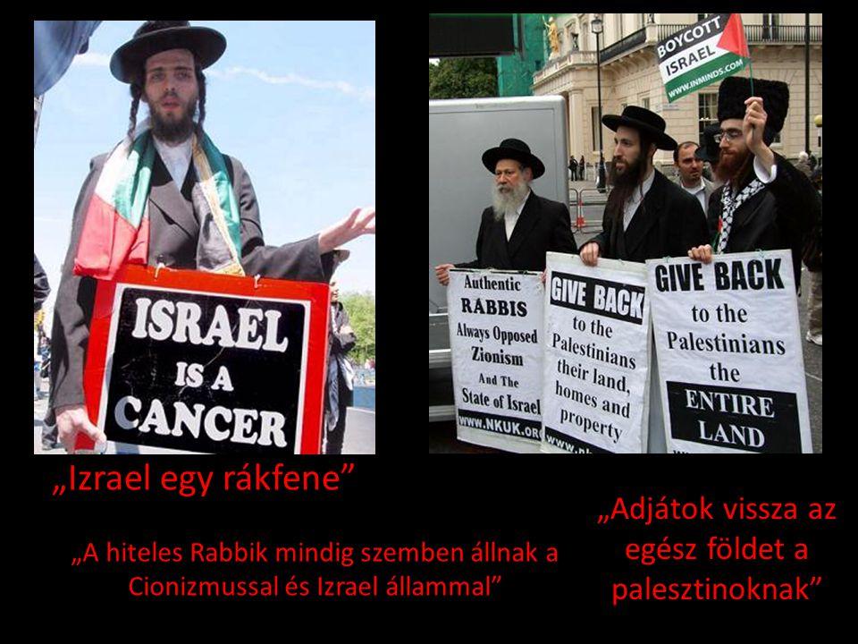 """""""Adjátok vissza az egész földet a palesztinoknak"""