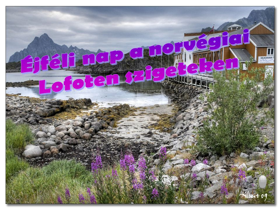 Éjféli nap a norvégiai Lofoten szigeteken