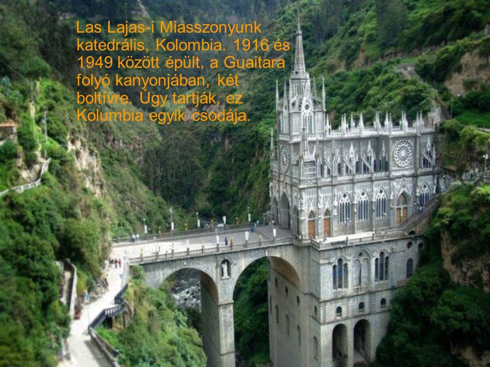 Las Lajas-i Miasszonyunk katedrális, Kolombia