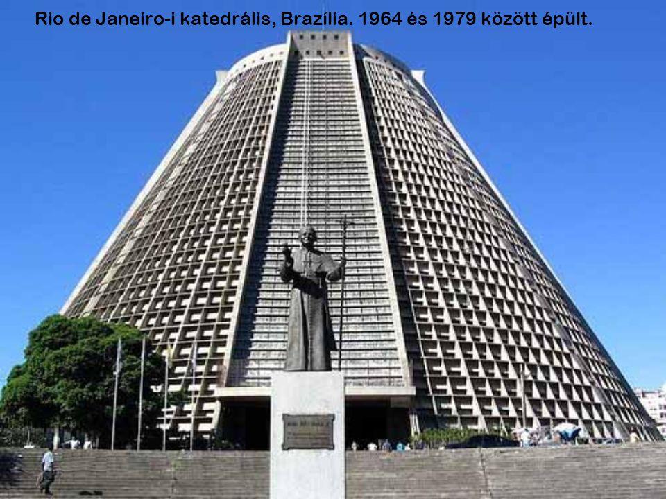Rio de Janeiro-i katedrális, Brazília. 1964 és 1979 között épült.