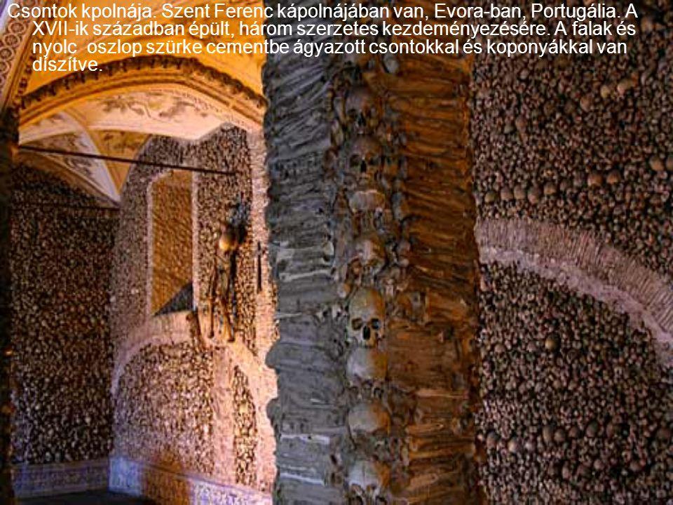 Csontok kpolnája. Szent Ferenc kápolnájában van, Evora-ban, Portugália