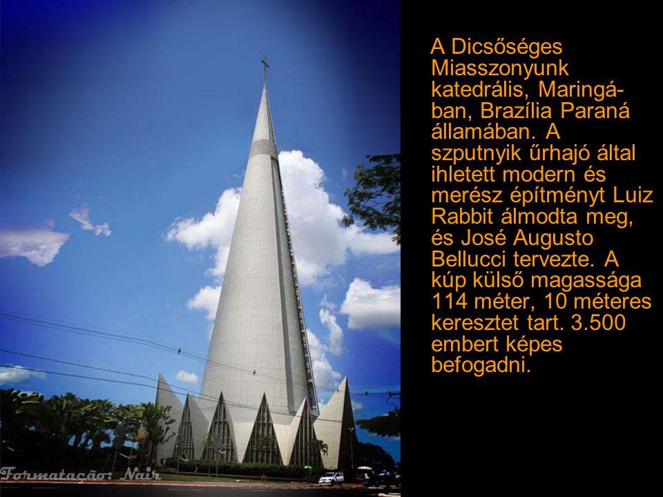 A Dicsőséges Miasszonyunk katedrális, Maringá-ban, Brazília Paraná államában.